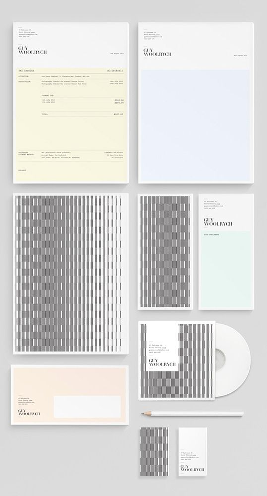 Fantastic stationery collection for Guy Woolrych via Lovely Stationery