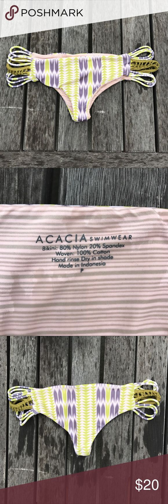 Acacia bottoms Used with no visible stains on the outside. Size Petite acacia swimwear Swim Bikinis