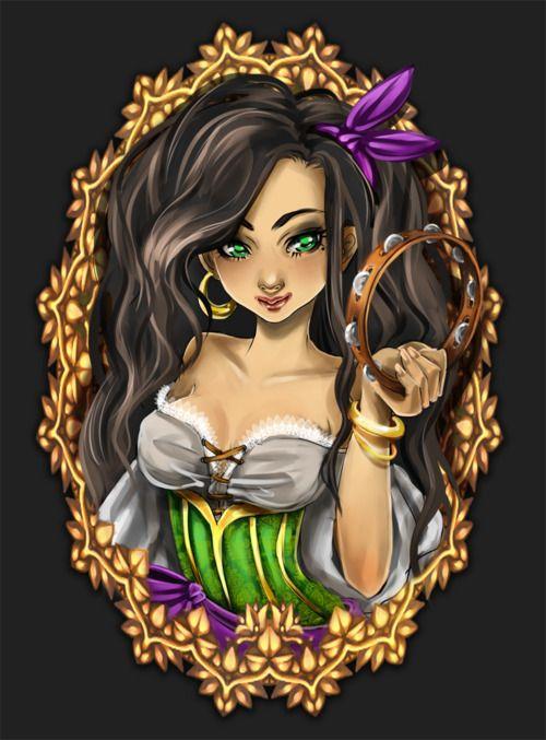 Esmeralda, The Hunchback of Notre Dame, Disney Princess, Disney Fan Art