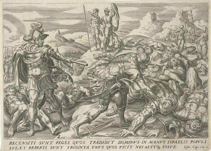 Eenendertig koningen verslagen door Jozua, Harmen Jansz Muller, Gerard P. Groenning, 1567 - 1570