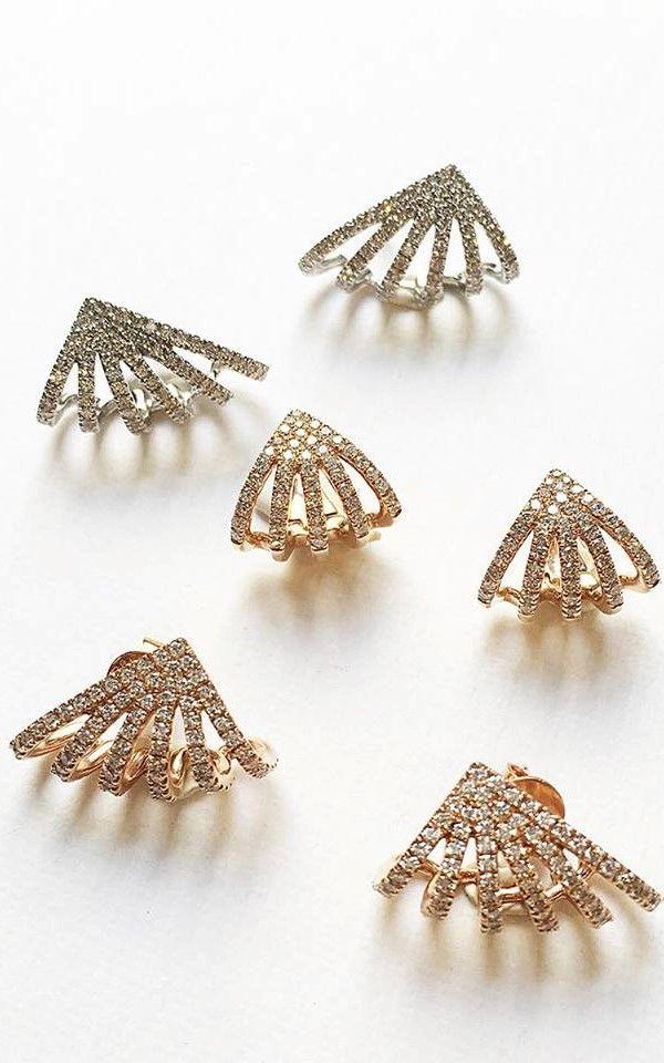 Sarah Leah Diamond Huggies #danarebeccadesigns #diamonds #earrings