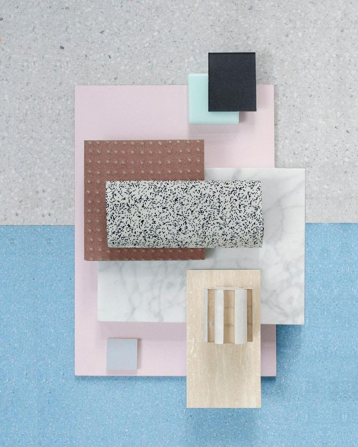 "688 Likes, 6 Comments - Studio David Thulstrup (@studiodavidthulstrup) on Instagram: ""Material Mood Of The Week ~ Spring Colors & Contrast #terrazzo #marble #ceramics #colors #blue…"""