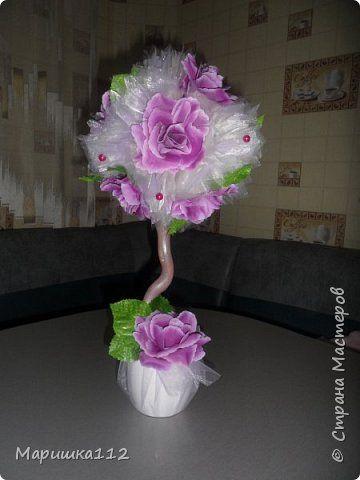 Бонсай топиарий Свадьба Цумами Канзаши Свадебные украшения топиарии Ленты фото 8