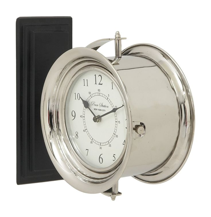 tell time in style with this stainless steel wood double wall clock you can charm your home decor with this stunning clock made of aluminum