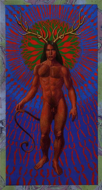 The Greenman  Cernunnos/Herne the Hunter... By Artist Unknown...