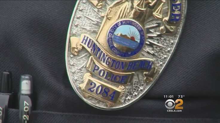 Police badge deflects bullet in shootout, gunman dies in fiery crash  A man who shot at Huntington Beach police officers, hitting one officer in the badge, led police on a high-speed chase through three counties before...