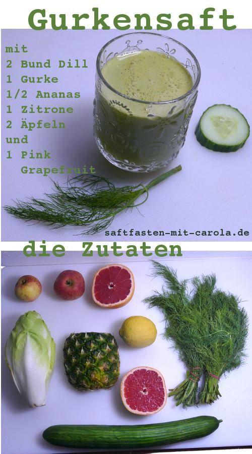 leckerer Gurkensaft für die Detox Kur :)