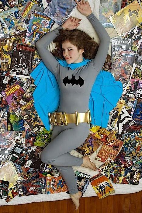 Classic Batman Costume for a Batgirl (super cute)