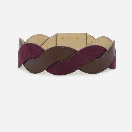 Prune Weave Detail Belt | CHARLES & KEITH