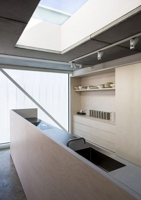 Ply kitchen designed by Roy Middleton for Carl Turner's Slip House in Brixton.