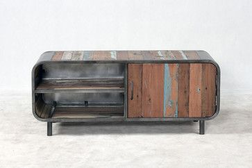 Retro / Midcentury Modern Style TV Entertainment Console midcentury media storage