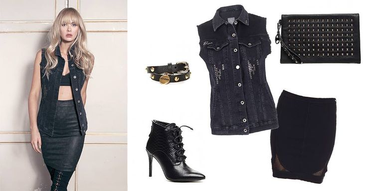 Rock the party with this stunning outfit from Guess! http://www.globalbrandsstore.com