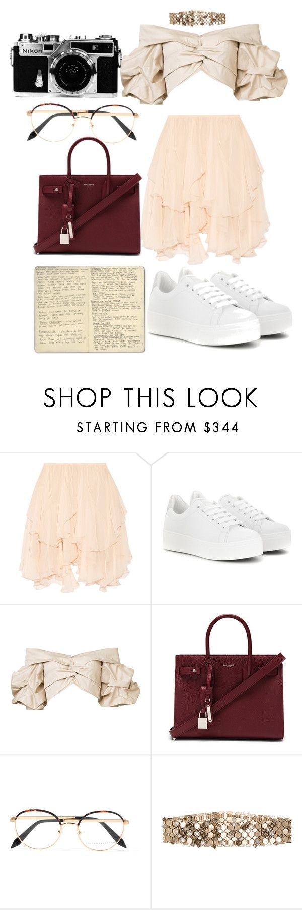 """Untitled #905"" by veronice-lopez ❤ liked on Polyvore featuring Chloé, Kenzo, Johanna Ortiz, Yves Saint Laurent, Victoria Beckham, Moleskine, Lanvin and Nikon"