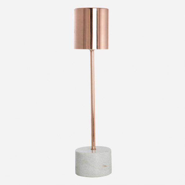 Copper Lamp by House Doctor I The ICONIST #copper #concrete #designlamp http://www.iconist.de/marble-tischleuchte?wt_mc=P