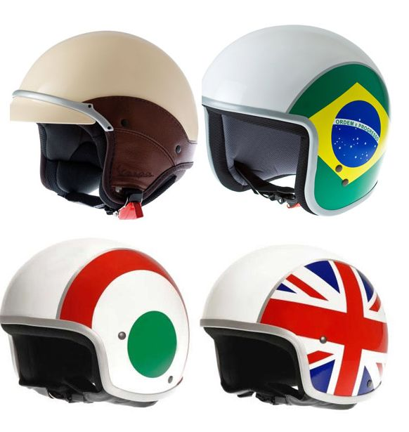 Cute country-themed moped helmets!