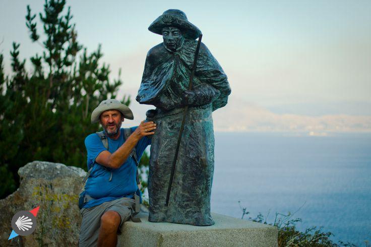 Statue of Pilgrim at #Finisterre #Spain photo made by Katarzyna Kędzierska