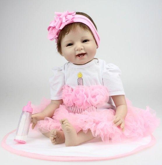 100 bebês reborn bonecas de silicone / boneca reborn / vivo / bonecos colecionaveis / boneca reborn / brinquedos para meninas / jouets(China (Mainland))