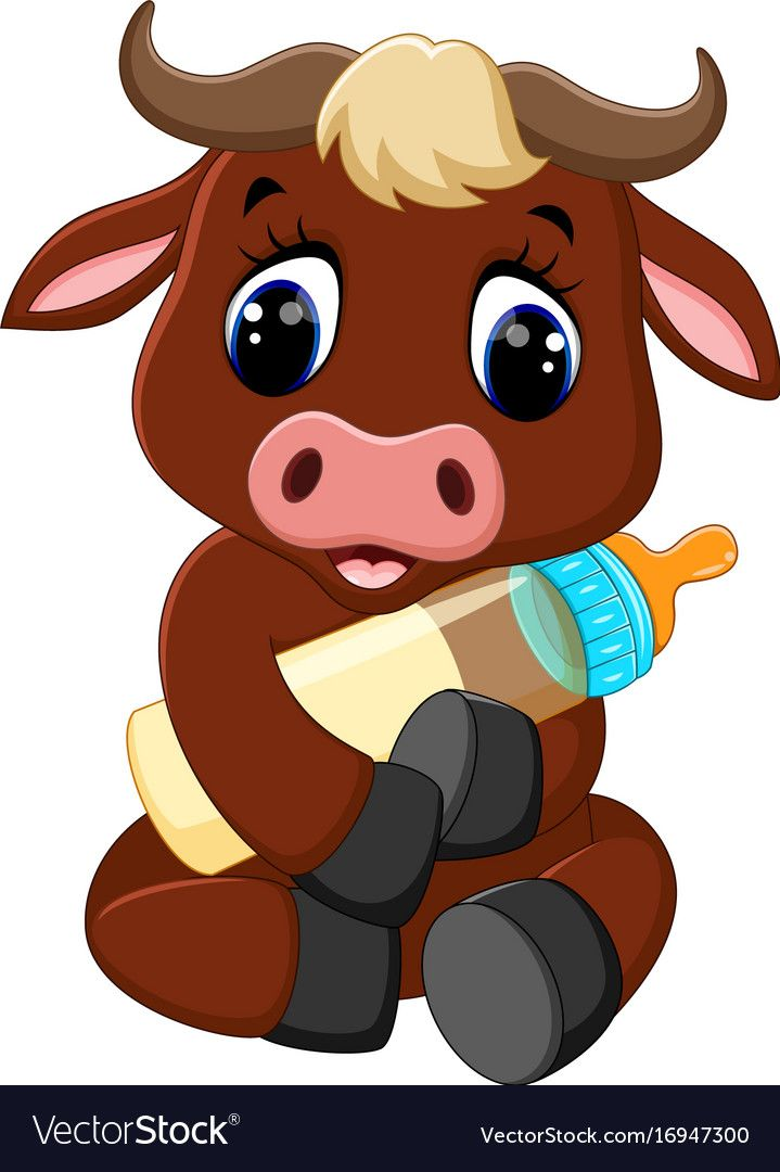 Illustration Of Cute Baby Bull Cartoon Download A Free Preview Or High Quality Adobe Illustrator Ai Eps Pdf And Hi Baby Clip Art Cartoon Cow Buffalo Cartoon