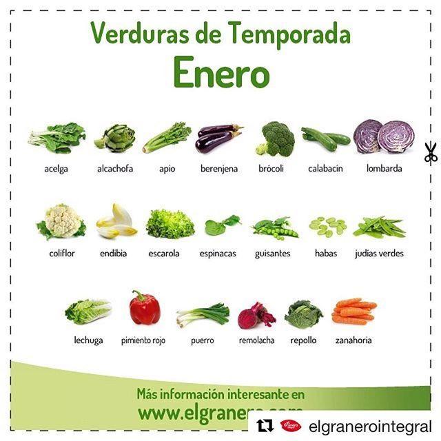 Empezamos de nuevo otro mes más con la buena costumbre de comprar verduras y frutas del periodo!! . Iniziamo un'altro mese con la buona abitudine di comprare le verdure e frutta di stagione!! ____________ #Repost @elgranerointegral ・・・ Ya tenéis disponible en la web que aparece en la BIO el calendario de #VERDURAS de temporada de #enero. Podéis descargaros #gratis el PDF de alta calidad y ponerlo en vuestra #nevera para tener siempre a mano los productos que incluir en la #cesta de la…