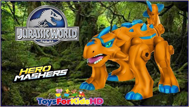 Jurassic World Ankylosaurus Hero Mashers - Juguetes de Dinosaurios - Jug...