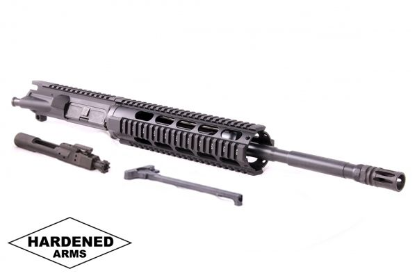 """Product Details: 16"""" 300 Blackout Mel-10"""" Tactical Quad Rail AR15 Upper - w/BCG and CH"""