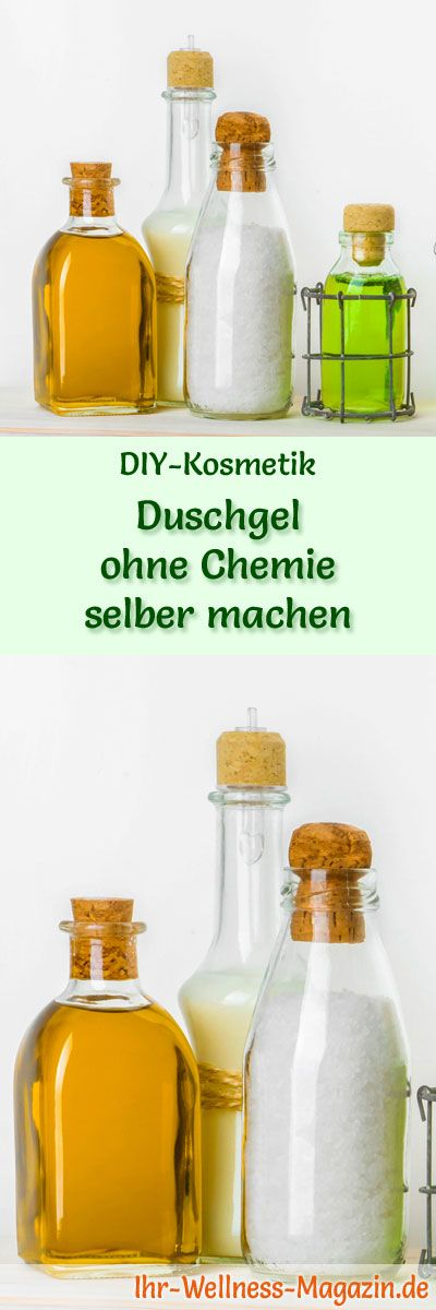 Duschgel selber machen - DIY-Kosmetik-Rezept für Duschgel ohne Chemie aus nur 4 Zutaten mit Honig und der Fett reduzierenden Kraft von Petersilienextrakt ...