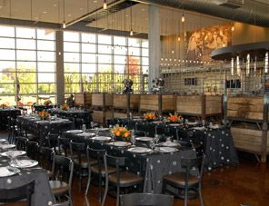 Motor restaurant and bar inside the Harley-Davidson Museum is perfect for rehearsal dinners.