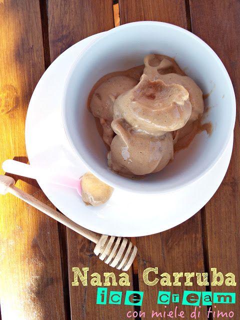 I biscotti della zia: NanaCarruba ice cream con miele di timo