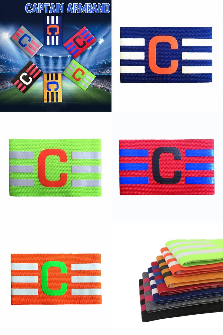 [Visit to Buy] Captain Armband Colorful Football Soccer Flexible Sports Adjustable Player Hockey Rugby Sports Adjustable Games Tournament #Advertisement