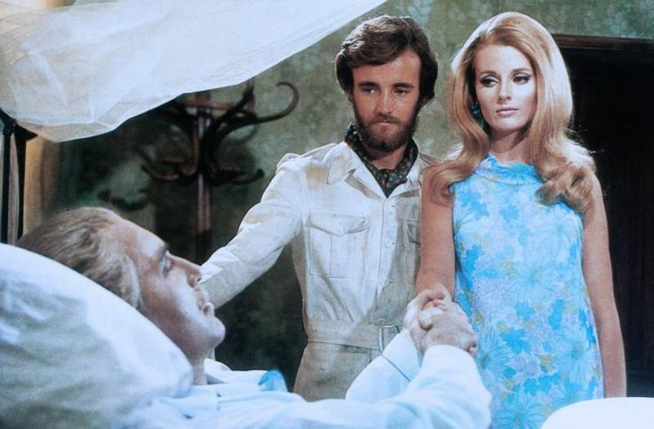 Celeste Yarnall looking really spiffy - that's Christopher Lee and Robert Walker Jr. with her