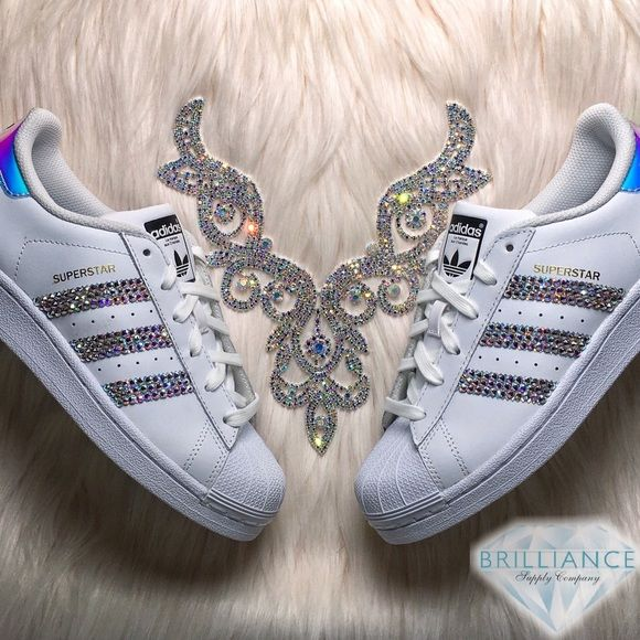 Adidas Superstar Hologram Shoes - AB Swarovski Custom listing for exclusive  Adi…  092a6dc72