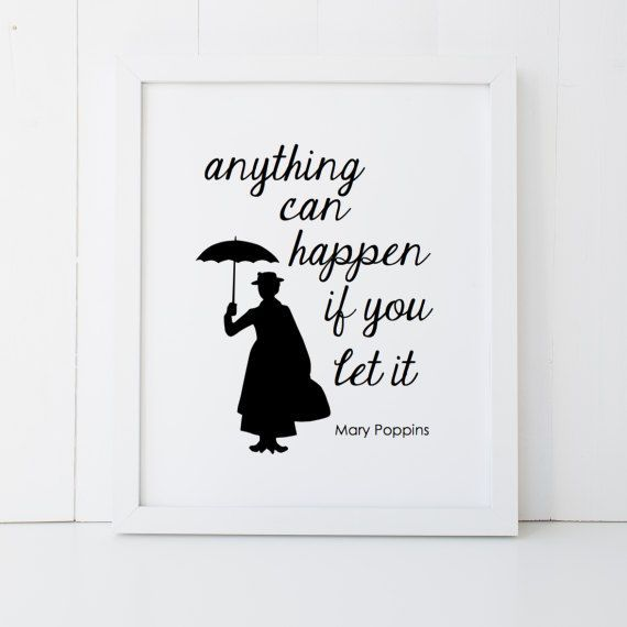 mary poppins quote disney home decor printable poster wall art