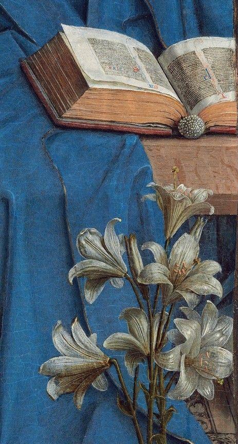 Detail from The Annunciation, Jan van Eyck, 1434-1436
