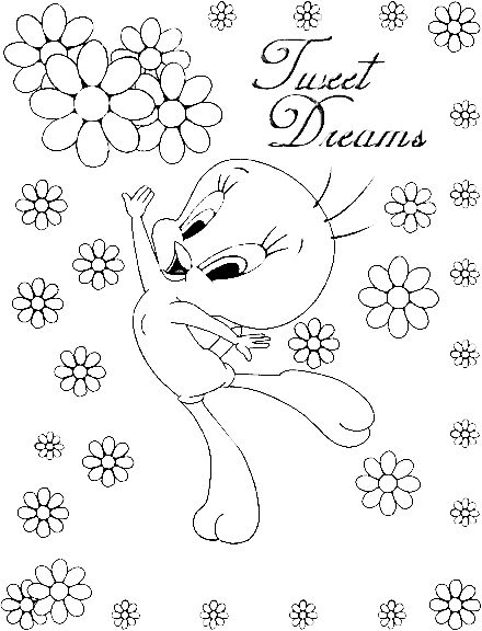 tweety bird coloring pages | Planse de colorat | tweety_bird_coloring_pages_006 | tweety bird