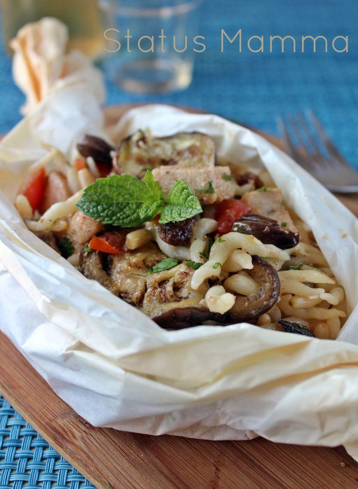 Trofie alla norma con pesce spada:Tanti ingredienti semplici per un primo tradizionale che si sposa con ingredienti di mare da trasformarsi da un piatto invernale in uno estivo sempre con semplicità e gusto.