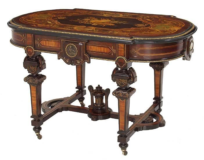 Pleasant Antique Table Style Inlaid Center Table Victorian Amp Ibusinesslaw Wood Chair Design Ideas Ibusinesslaworg