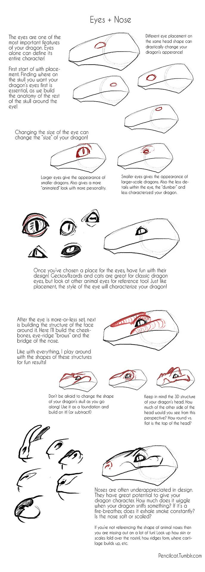 Part 1b Of Building A Dragon  Eyes + Nose Part 1a! Again More Character