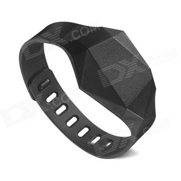 Интеллектуальный спорт Фитнес Bluetooth V4.0 браслет браслет - черный