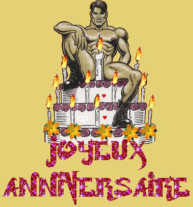 joyeux anniversaire homme sexy gateau hbd joyeux. Black Bedroom Furniture Sets. Home Design Ideas