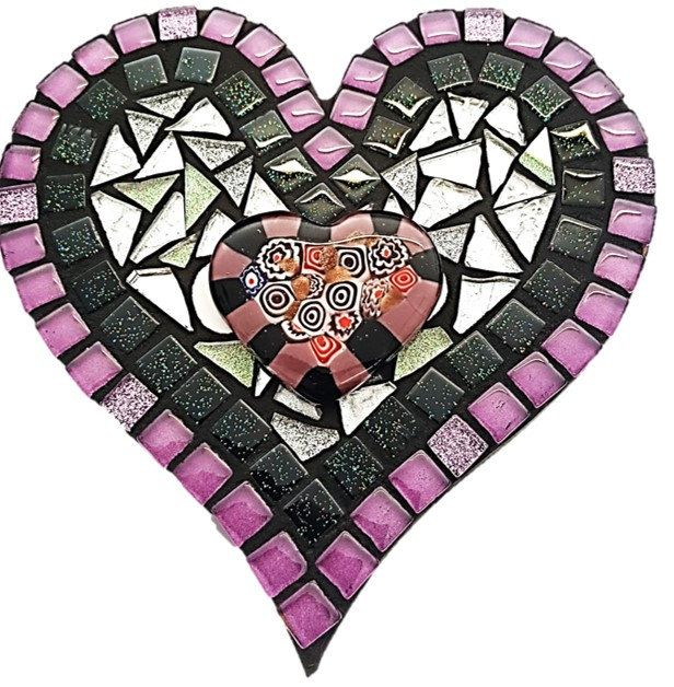 Mosaic Heart Kitset - Small - Dreamy Purple by MosaicStudio1 on Etsy