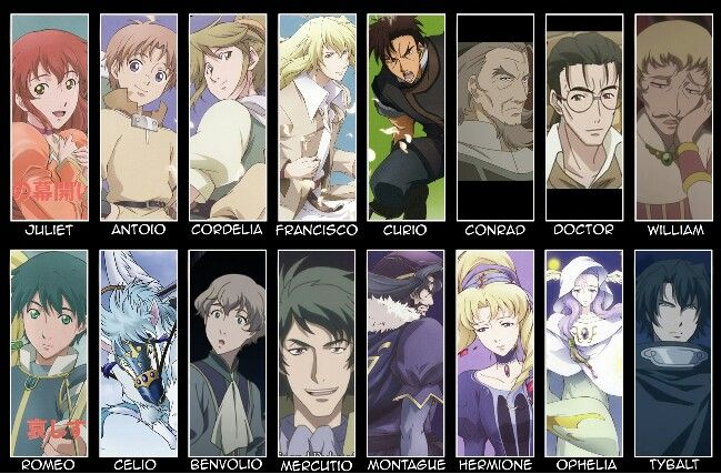 X And Y Anime Characters : Romeo juliet cast i m really into this anime right now