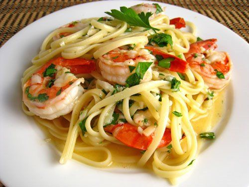 Shrimp Scampi: Dinner, Mail, Shrimp Scampi, Seafood, White Wine, Yummy, Favorite Recipes