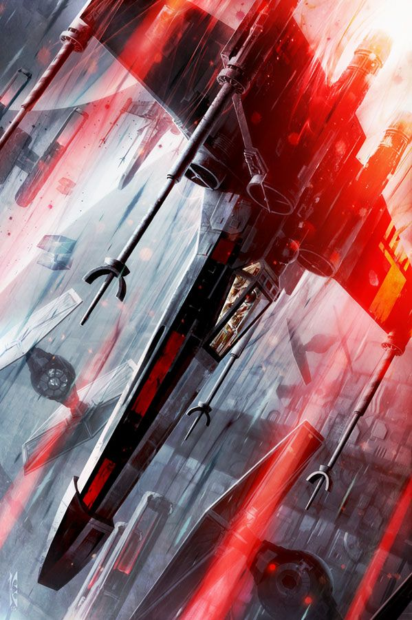 X-Wing Descending - by Raymond Swanland<br> 150 Piece Limited Edition