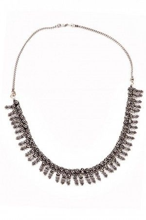 Silver exclusive fashionable necklace-j1001015