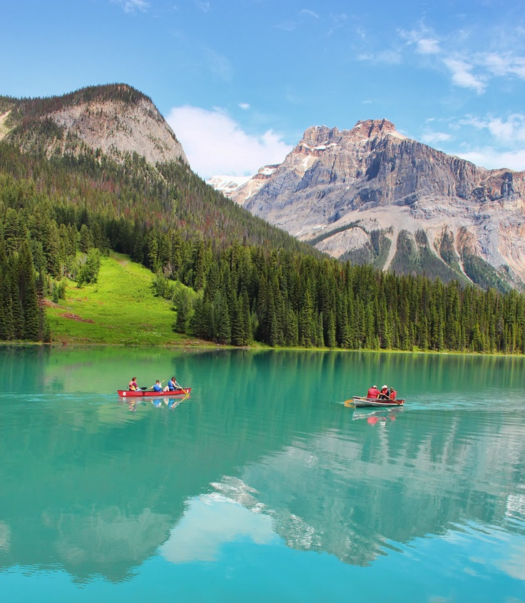 Boats on Emerald Lake