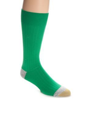 Gold Toe  Bright Color Solid Rayon Rib Socks - Single Pair