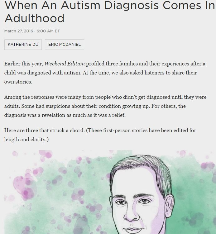 Do I Have Autism? What It's Like To Find Out As An Adult : Shots - Health News : NPR