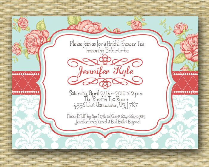 Vintage Tea Party Wedding Invitations: 17 Best Images About { Rose Baby Shower } On Pinterest