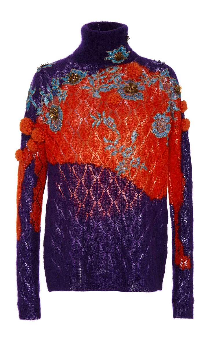 Embellished Turtleneck Sweater by DELPOZO for Preorder on Moda Operandi