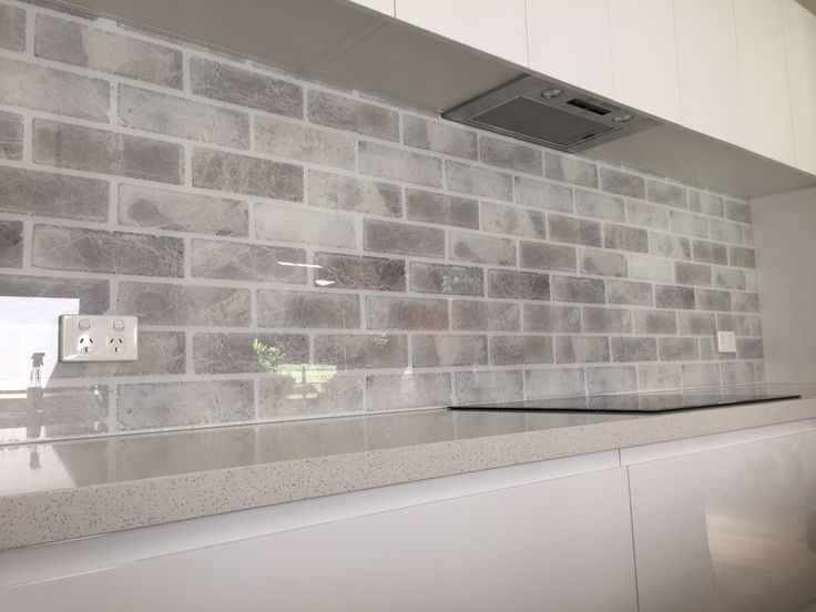 From Brick to Stone Effects, Creating an Urban Look Effortless  Sent to us from our DecoGlaze™ Central Coast Franchise,  We just love the textural element this Printed Glass Splashback brings to the kitchen.